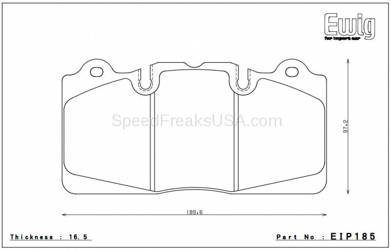 Endless W008 EIP185 Brake Pads Chevrolet Corvette 09+