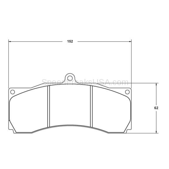 performance friction brake pads 7793 01 18 44 alcon  ap