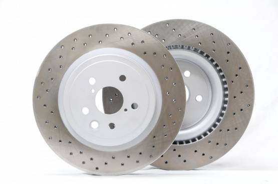 Project Mu Club Racer front rotors for IS-F (dirlled) PCRLXDF9305