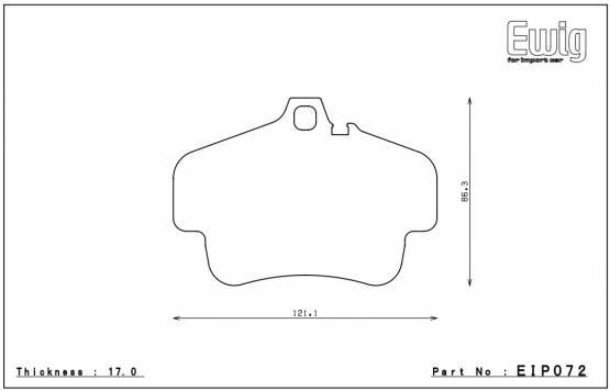 Endless MX72 EIP072 Brake Pads Porsche 911