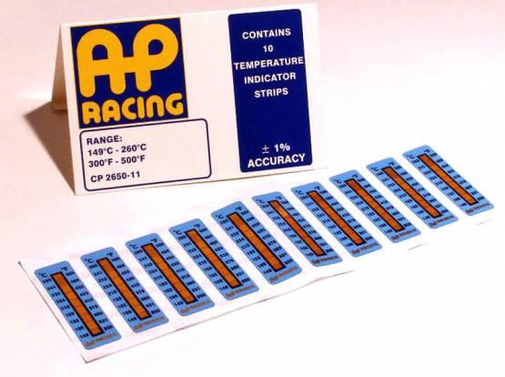 AP Racing - AP Racing Caliper temperature strips 300-500°F