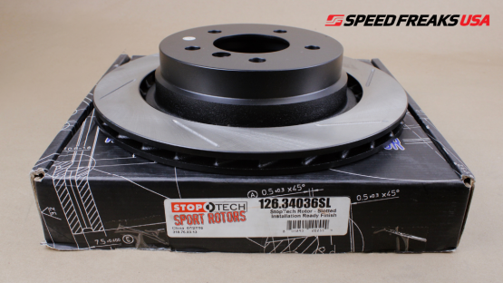 StopTech - StopTech Sport Slotted Rotor Rear Left E36 BMW M3 (95-99)