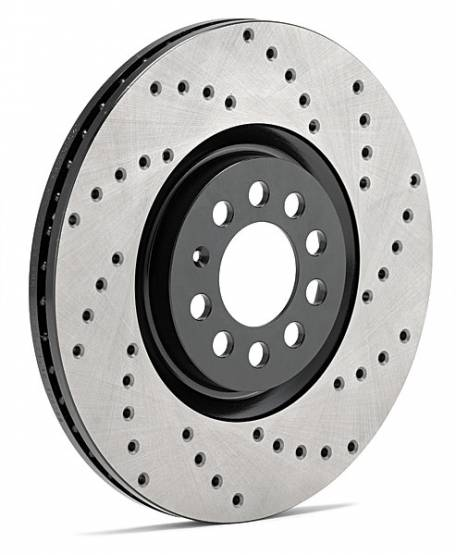 StopTech - StopTech SportStop Drilled Rotors Front Right Jaguar XFR