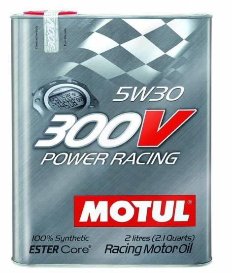 Motul  - Motul 300V POWER RACING 5W30(2L/ 2.1Quart)