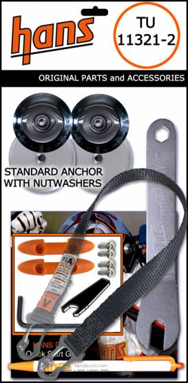 Hans  - Hans Device Post Anchor Collar Sliding Tether Kit