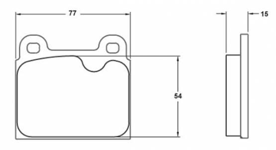 Performance Friction  - Performance Friction Brake Pads 0045.11.15.44 Porsche