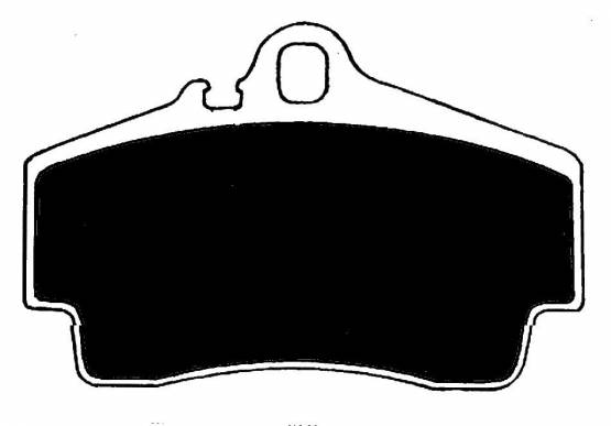 Raybestos ST-41 RC738 Brake Pads Rear Porsche