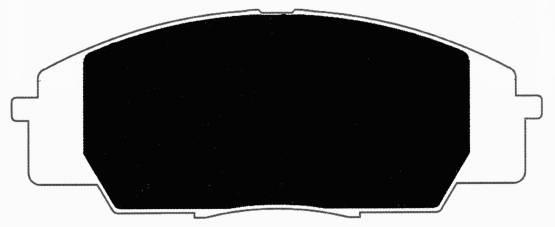 Porterfield - Porterfield R4 AP829 Brake Pad Front Honda S2000