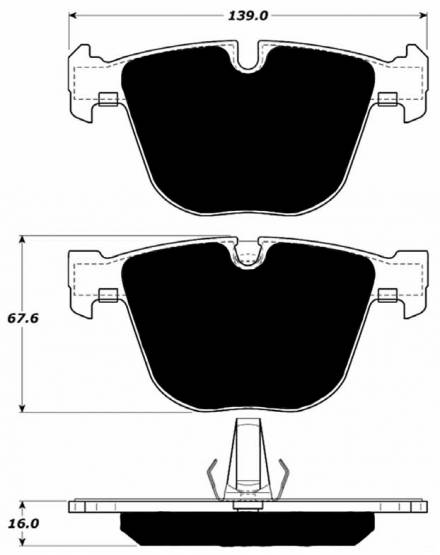 Porterfield - Porterfield R4 AP919 Brake Pad Rear BMW 1M / M3 / M5