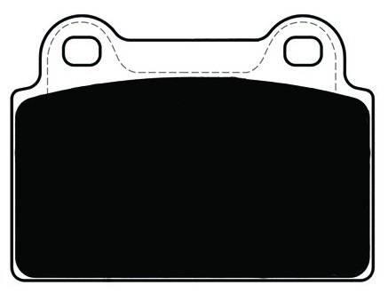Porterfield - Porterfield R4 AP1368 Brake Pad Rear Mitsubishi Evolution X