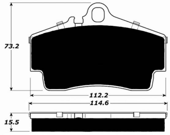 Porterfield R4-S AP738 Brake Pad Rear Porsche