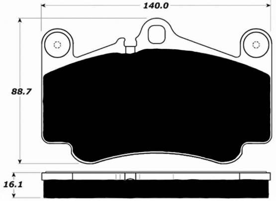 Porterfield - Porterfield R4 AP916 Brake Pad Front Porsche