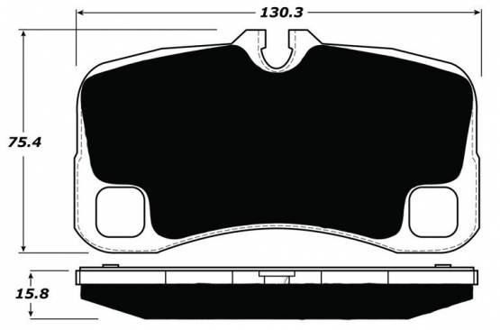 Porterfield - Porterfield R4 AP1300 Brake Pad Rear Porsche 997