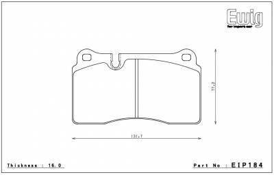 Endless  - Endless W008 EIP184 Brake Pads Aston DB9 / Corvette / Ferrari CCM - Image 2