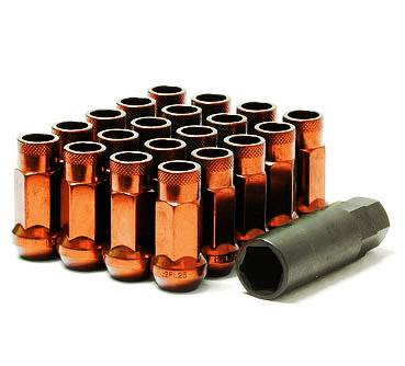Wheels / Wheel Accessories - Lug Nuts - Muteki - Muteki SR48 Orange