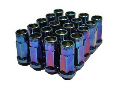 Wheels / Wheel Accessories - Lug Nuts - Muteki - Muteki SR48 Burned Blue Neon