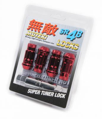 Muteki - Muteki SR48 Red Wheel Locks