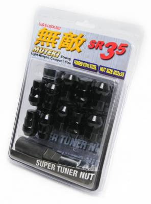 Wheels / Wheel Accessories - Lug Nuts - Muteki - Muteki SR35 Black 16 Lugs 4 Locks