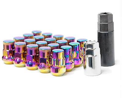 Wheels / Wheel Accessories - Lug Nuts - Muteki - Muteki SR35 Chrome Neon 16 Lugs 4 Locks