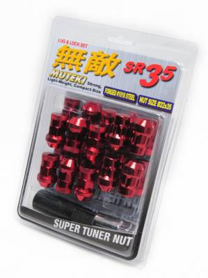 Wheels / Wheel Accessories - Lug Nuts - Muteki - Muteki SR35 Red 16 Lugs 4 Locks