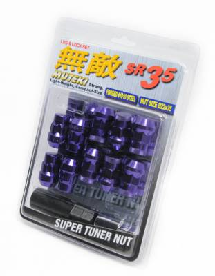 Wheels / Wheel Accessories - Lug Nuts - Muteki - Muteki SR35 Purple 16 Lugs 4 Locks