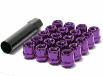 Wheels / Wheel Accessories - Wheel Locks - Muteki - Muteki Short Open End Lugs Purple