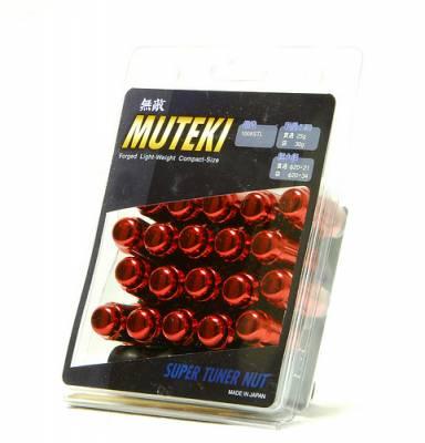 Wheels / Wheel Accessories - Wheel Locks - Muteki - Muteki Short Closed End Lugs Red