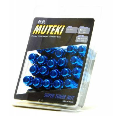 Wheels / Wheel Accessories - Wheel Locks - Muteki - Muteki Short Closed End Lugs Blue
