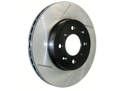 Brake Rotors One-piece  - One-Piece Front Rotors - StopTech - StopTech Sport Slotted Rotors Front Left Honda S2000