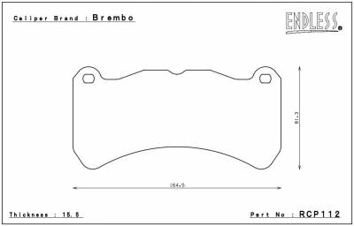 Lexus - IS-F - Endless  - Endless MX72 RCP112 Brake Pads Front Lexus IS-F