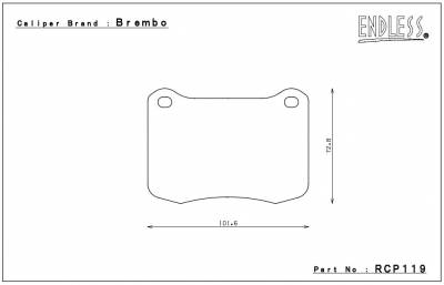 Lexus - IS-F - Endless  - Endless MX72 RCP119 Brake Pads Rear Lexus IS-F