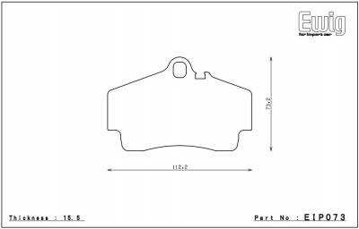 Endless  - Endless MX72 EIP073 Brake Pads Porsche