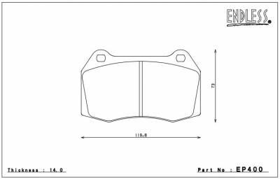 Nissan - 350Z - Endless  - Endless MXRS EP400 Nissan 350z w/ Brembo Front Brake Pads