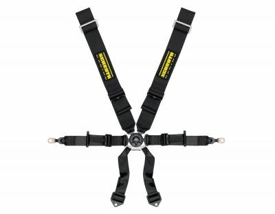 "Safety Harness - Hans Compatible   - Schroth Racing  - PORSCHE GT3 Schroth Profi II 6H 3"" Shoulder Harness Belt (Black)"