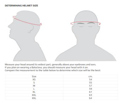 Sizing a Stilo ST5 GT Helmet