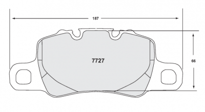 991 ('12+) - 991 Carrera - Performance Friction  - Performance Friction Brake Pads Porsche 991 GT3 / GT4 Rear Brake Pad