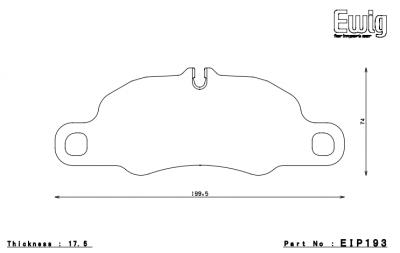 Featured Vehicles - Porsche - Endless  - Endless MX72 EIP193 Brake Pads Porsche 911 (997 / 991 / 981c) Front