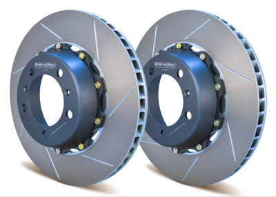 Brake Rotors Two-piece - Two-Piece Rear Rotors - Girodisc - Girodisc A2-032 Porsche 991 C2S/C4S 350mm Rear Rotor Upgrade w/ Spacers & Hardware