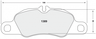 981 ('12+) - Brake Pads - Performance Friction  - Performance Friction Brake Pads 1389.11.17.44 Porsche 981 / 991 / 997 Front Pad