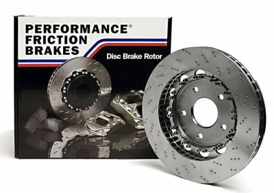 Brake Rotors Two-piece - Two-Piece Front Rotors - Performance Friction  - Performance Friction Direct Drive Package for 987 Porsche Boxster/Cayman