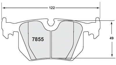 Performance Friction  - Performance Friction Brake Pads 7855.01.16.44 for BMW Rear w/ PFC Direct Drive Rotors