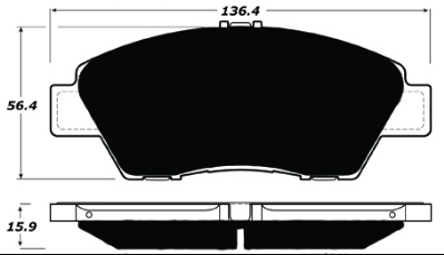 Brake Pads - Street Pads - Porterfield - Porterfield R4-S AP1394 Brake Pad Honda Fit/CR-Z