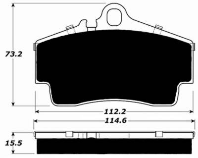 Brake Pads - Racing / Track Day Pads - Porterfield - Porterfield R4-E AP738 (Endurance) Brake Pad Rear Porsche