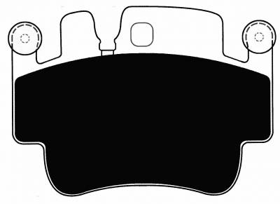 Porterfield - Porterfield R4-E (Endurance) AP917 Brake Pad Porsche