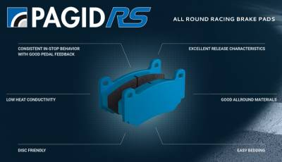 987 ('05-'12) - Brake Pads - Pagid Racing - Pagid Racing RS 44 (2407-44) 986/987 Boxster/Cayman Front