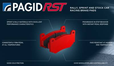 987 ('05-'12) - Brake Pads - Pagid Racing - Pagid Racing RST 3 (2406 RST3) 986/987 Boxster/Cayman Rear