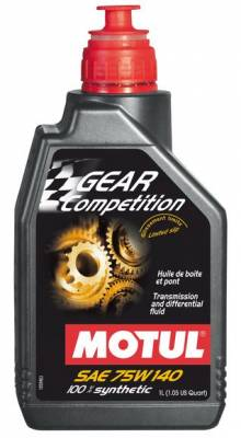 Motor Oil and Fluids - Transmission Fluid - Motul  - Motul GEAR FF COMP 75W140 (LSD) - 100% Synthetic Ester (1L/ 1.05 qt.) OLD PN 101161