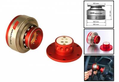 Interior / Safety - Steering Hubs, Hub Adapters, Quick Release - Works Bell - Works Bell Rapfix II (Red)
