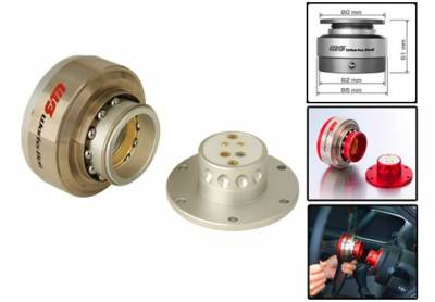 Interior / Safety - Steering Hubs, Hub Adapters,Quick Release - Works Bell - Works Bell Rapfix II (Silver)
