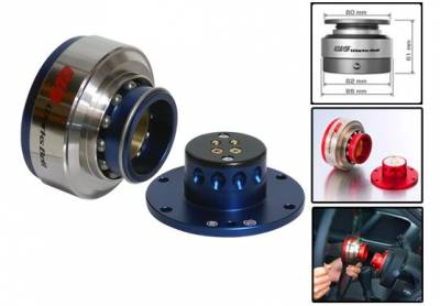 Interior / Safety - Steering Hubs, Hub Adapters, Quick Release - Works Bell - Works Bell Rapfix II (Blue)